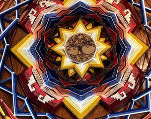 Ojos De Dios Connected to the Root, 36 inch Mandala