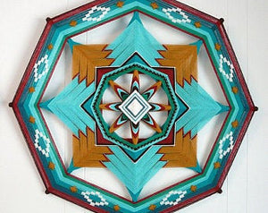 Midnight Gem Variations, 24 inch  Mandala