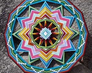 Ojos De Dios In the Garden Of God, 32 inch Mandala