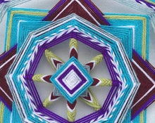 Load image into Gallery viewer, Kit and Directions for making One Purple Beauty Mandala  12 Inch