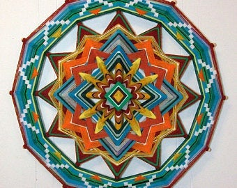 Sunshine to the Heart, 24 inch  Mandala