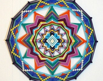 Colorful LIfe , 18 inch  Mandala