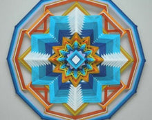 Load image into Gallery viewer, Ojos De Dios Guides of Light, 18 inch Mandala