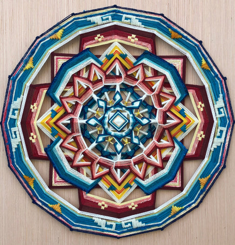 Ojos De Dios 36 inch Custom hand spun Mandala of choice.