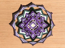 Load image into Gallery viewer, Willingness and hope, a 12-inch, 14-sided Mandala