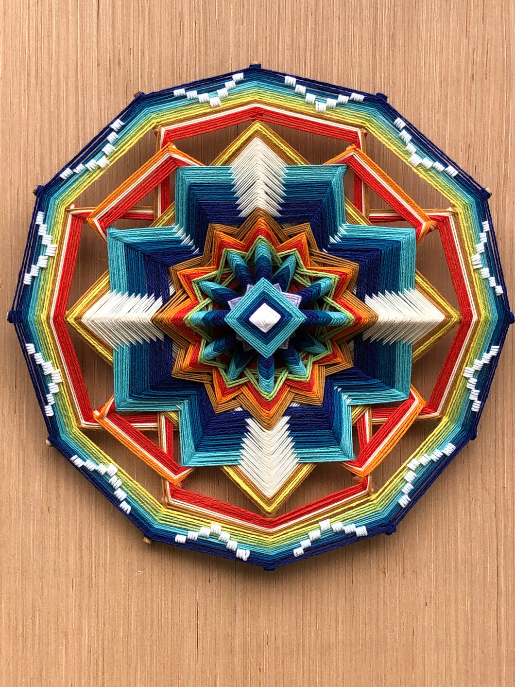 Guide to lighten our path, 18 inch Mandala
