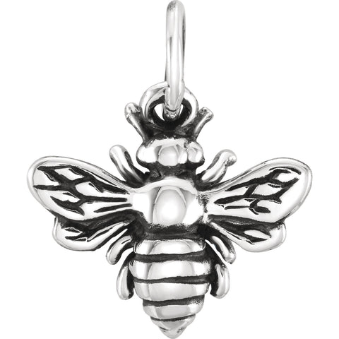 Honey Bee Sterling Silver Charm