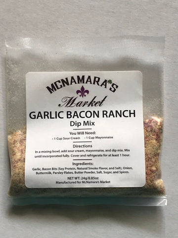 Easy Garlic Bacon Ranch Dip Mix From McNamara's Market
