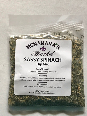 Easy Sassy Spinach Dip Mix From McNamara's Market