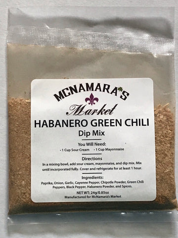 Easy Habanero Green Chili Dip Mix From McNamara's Market