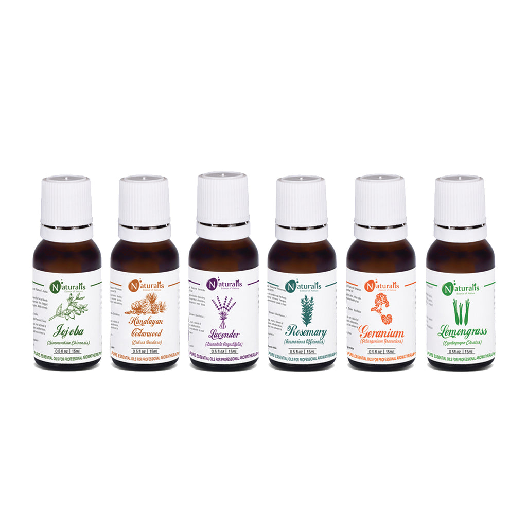 Hair Care Essential Oil Set Of 6 by Naturalis - Pure & Natural