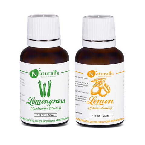 Lemongrass & Lemon Essential Oil Set of 2 -30ml by Naturalis - Pure & Natural