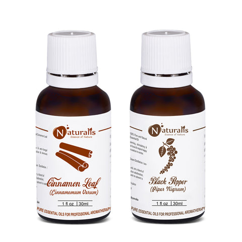 Cinnamon & Black Pepper Essential Oil set of 2 - 30ml by Naturalis - Pure & Naturalis