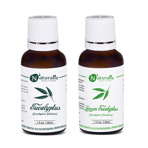 Eucalyptus & Lemon Eucalyptus Essential Oil Set of 2- 30ml by Naturalis - Pure & Natural - Naturalis