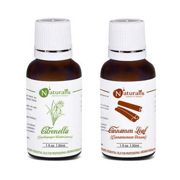 Citronella & Cinnnamon Leaf Essential Oil Set of 2 - 30ml by Naturalis - Pure & Natural - Naturalis