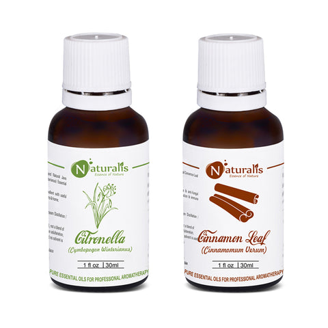 Citronella & Cinnnamon Leaf Essential Oil Set of 2 - 30ml by Naturalis - Pure & Natural