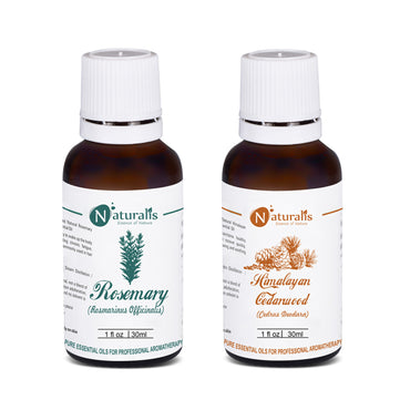 Rosemary Oil & Cedarwood Essential Oil Set of 2 by Naturalis - Pure & Natural