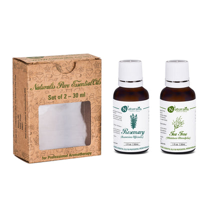 Rosemary Oil & Tea Tree Oil- Essential Oil Set of 2  by Naturalis - Pure & Natural - Naturalis