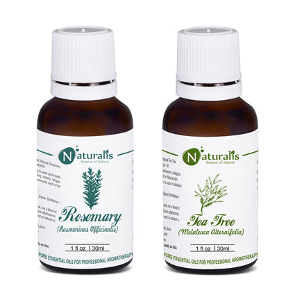 Rosemary Oil & Tea Tree Oil- Essential Oil Set of 2  by Naturalis - Pure & Natural