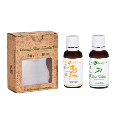 Lemon & Lemon Eucalyptus Essential Oil Set of 2 by Naturalis - Pure & Natural - Naturalis