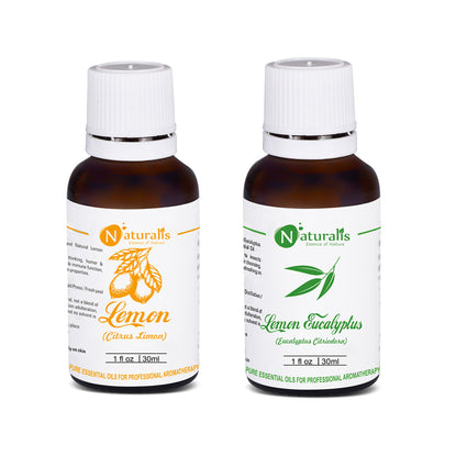 Lemon & Lemon Eucalyptus Essential Oil Set of 2 by Naturalis - Pure & Natural