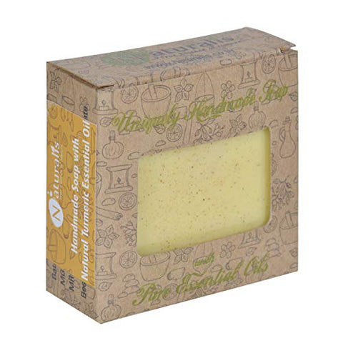 Handmade Soap With Natural Turmeric Essential Oil- For Antimicrobial & Scars