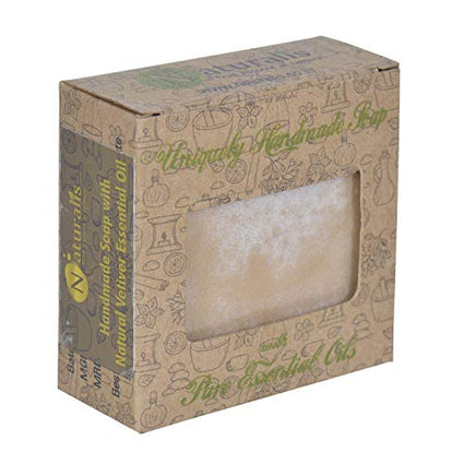 Handmade Soap With Natural Vetiver Essential Oil- For Stretch Marks, Cracks And Anti-Aging - Naturalis