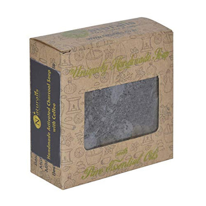 Handmade Charcoal Soap With Natural Coffee – For Cleansing And Skin Rejuvenation - Naturalis