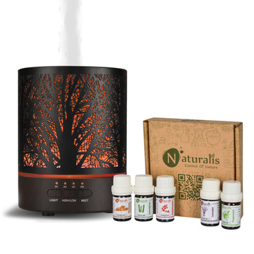 Naturalis Essence of Nature Mist Ultrasonic Aroma Diffuser & Humidifier with free Top 5 Natural Essential Oil - Naturalis