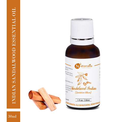 Sandalwood Essential Oil (Indian) by Naturalis - Pure & Natural