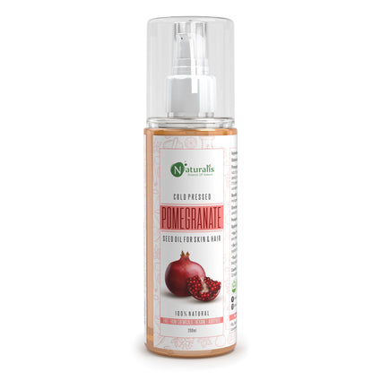 Cold Pressed Pomegranate Carrier Oil for Skin and Hair, 200ml - Naturalis