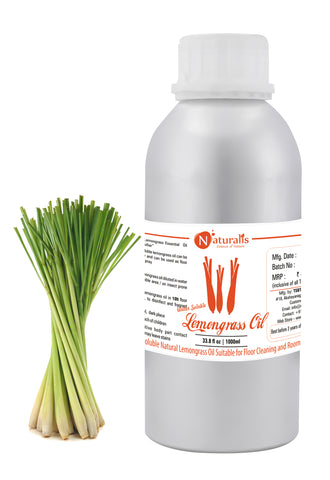 Naturalis Water Soluble Natural Lemongrass Oil Suitable for Floor Cleaning and Room Spray - Naturalis