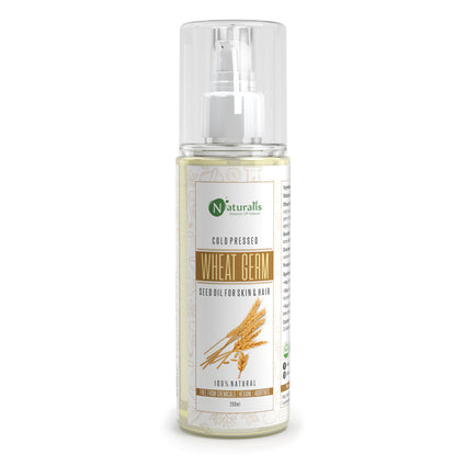 Cold Pressed Wheat Germ Carrier Oil for Skin & Hair Care, 200ml - Naturalis