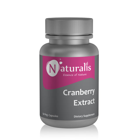 Naturalis Essence of Nature Cranberry extract 400mg (For Immunity antioxidant skincare) – 60 Veg capsules - Naturalis