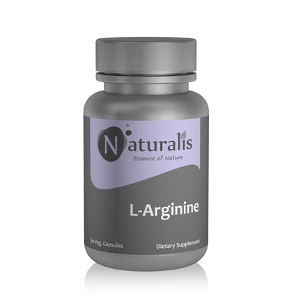Naturalis Essence of Nature L-Arginine 400 mg (for Muscle-Building, Stamina and Endurance) – 60 Veg capsules - Naturalis