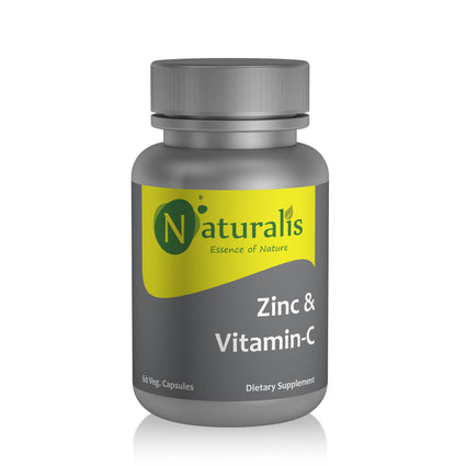 Naturalis Essence of Nature Vitamin C 500mg with zinc 10mg (For Immunity antioxidant skincare) – 60 Veg capsules - Naturalis