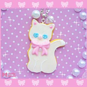 Kawaii Pastel Cookie Cat Necklace By Dolly House - plushiepink