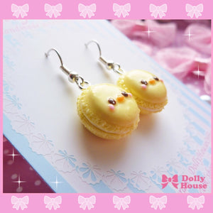 Kawaii Chick French Macaroons Earrings By Dolly House - plushiepink
