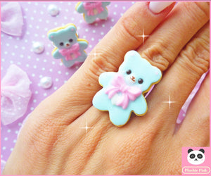 Cookie Bear Ring - plushiepink