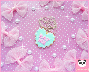 Eat Me Cookie Necklace - plushiepink