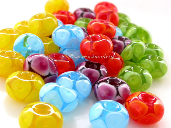 Bright Bubble Handmade Lampwork Beads