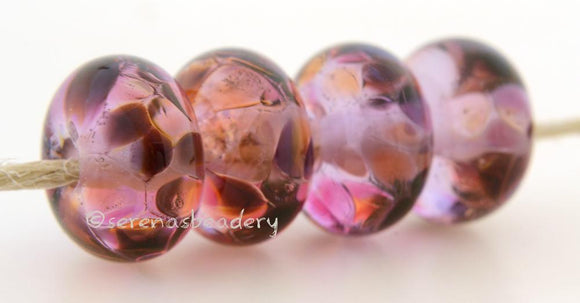 Sense of Rose Light pink lampwork glass beads with purple, pink, and orange frit.Bead Size: 6x11-12 or 7x13-14 mmHole Size: 2.5 mmprice is for one bead with a discount for 4 or more 11-12 mm,Glossy,13-14 mm,Glossy,11-12 mm,Matte,13-14 mm,Matte