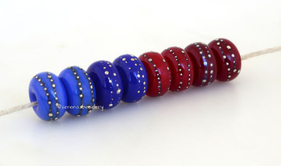 Red Blue Silver Dots