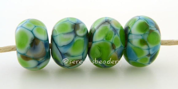 Swampland Deep turquoise blue with lots of bright green and a bit of deep olive green.Bead Size: 6x11-12 or 7x13-14 mmHole Size: 2.5 mmprice is for one bead with a discount for 4 or more 11-12 mm,Glossy,13-14 mm,Glossy,11-12 mm,Matte,13-14 mm,Matte