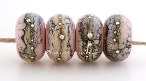 Bubble Gum Pink Granite with Fine Silver