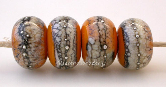 Squash Yellow Granite with Fine Silver Squash yellow wrapped in silvered ivory and fine silver droplets. 5x11 mm 2.5 mm hole Price is per bead with discounts for larger quantities. Glossy,Matte