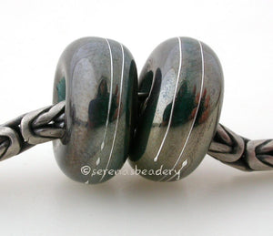 Bronze Beauty Fine Silver Wrap European Charm Bead one bronze beauty luster metallic handmade lampwork glass European charm spacer bead with a fine silver wrap6x14 mm with a 5mm holeprice is per bead Default Title