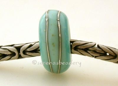Copper Green Fine Silver Wrap European Charm Bead