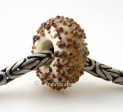 Dark Ivory Raku Sugar European Charm Bead dark ivory with raku sugar European charm bead6x15mmprice is per bead Glossy,Matte