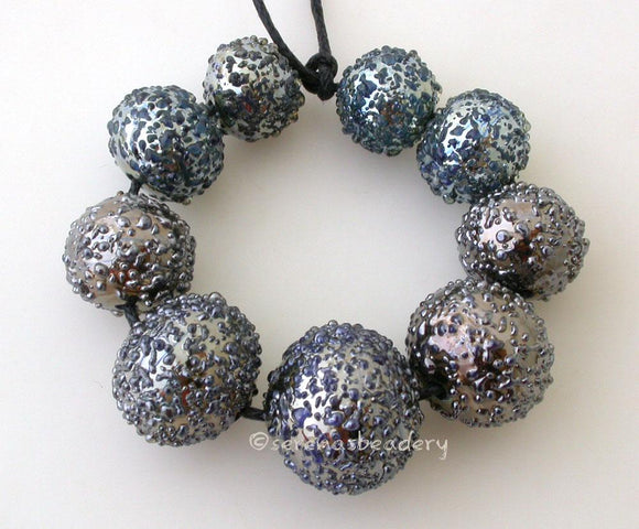 Disco Ball Graduated Set a graduated set of round disco balls lampwork glass beads   Bead Size: 10x10 to 15x15 mm Amount: Beads Hole Size: 1.5 mm 11-12 mm,Glossy,11-12 mm,Matte,13-14 mm,Glossy,13-14 mm,Matte